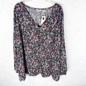 [Levi's] Flirty Floral Button Blouse